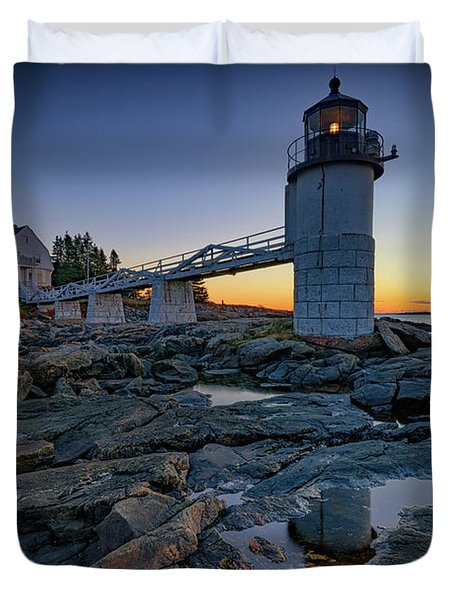 Dawn At Marshall Point Duvet Cover by Rick Berk