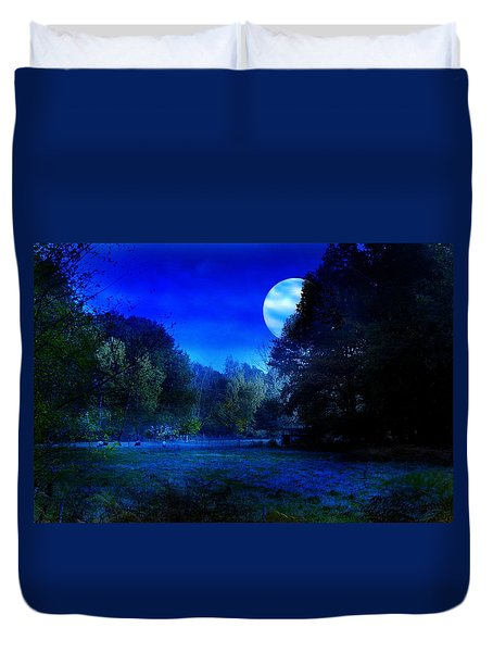 Dawn At Night Duvet Cover