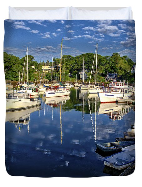 Dawn At Perkins Cove - Maine Duvet Cover