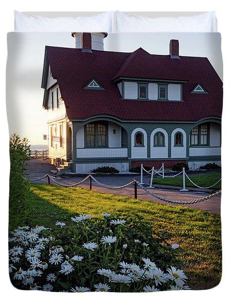 Dawn At Portland Head Light, Cape Elizabeth, Maine  -08614 Duvet Cover