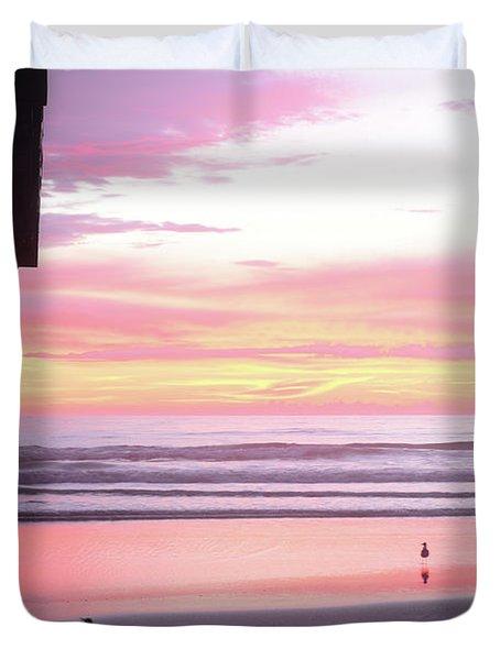 Dawn At The Beach 8-14-16 Duvet Cover