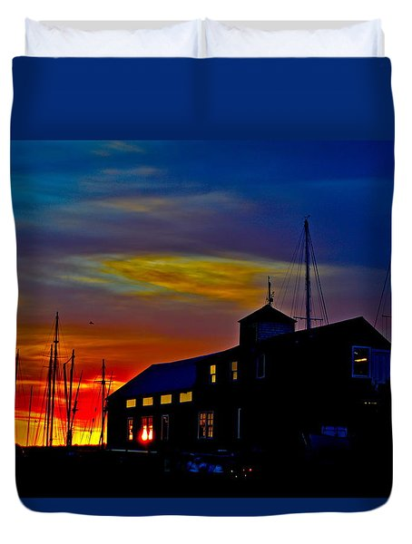 Dawn At The Boatbuilder  Duvet Cover