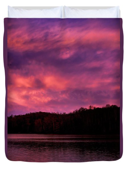 Duvet Cover featuring the photograph Dawn At The Dock by Thomas R Fletcher