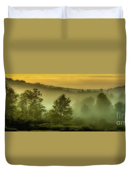 Duvet Cover featuring the photograph Dawn At Wildlife Management Area by Thomas R Fletcher
