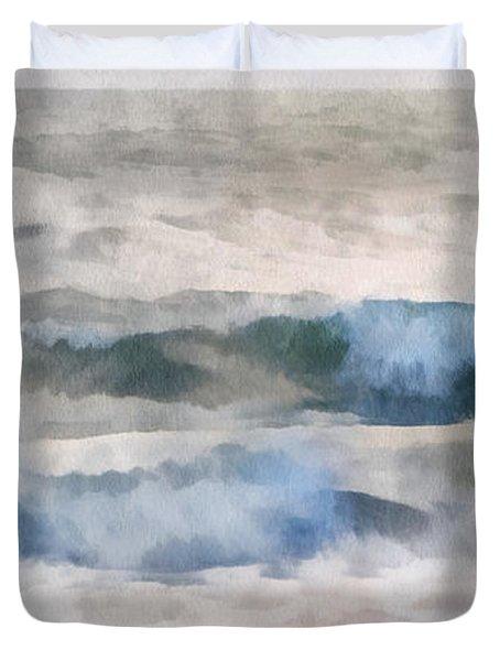Dawn Beach Duvet Cover by Francesa Miller