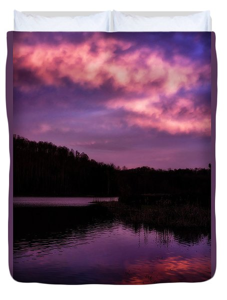Duvet Cover featuring the photograph Dawn Big Ditch Wildlife Management Area by Thomas R Fletcher