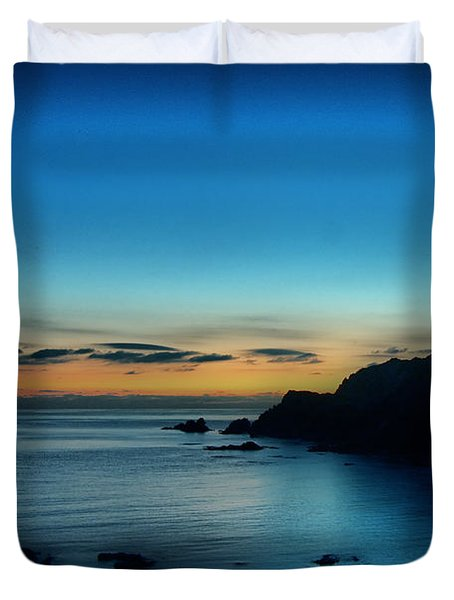 Dawn Blue In Mediterranean Island Of Minorca By Pedro Cardona Duvet Cover