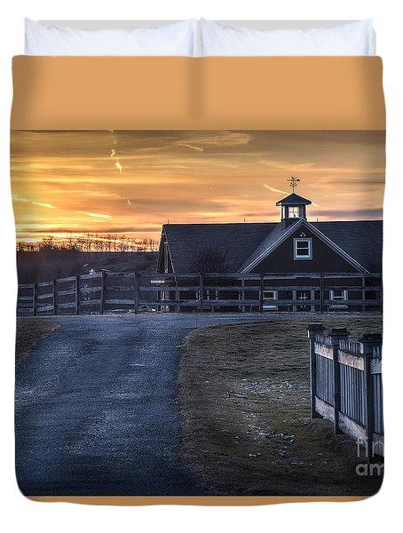 Dawn Breaking Duvet Cover