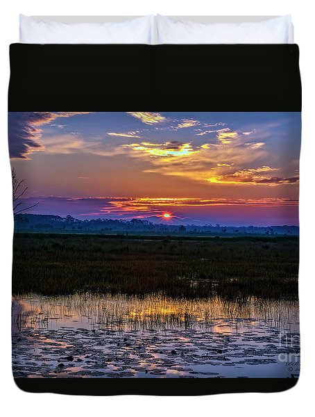 Dawn Breaking Over Saint Marks Duvet Cover