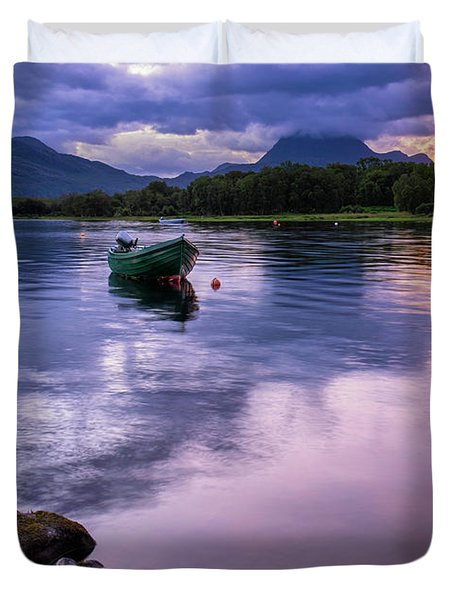 Dawn Breaks Over Loch Maree Duvet Cover
