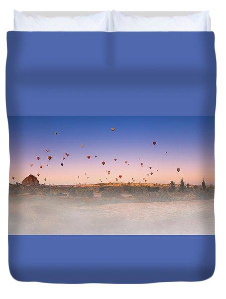 Dawn, Cappadocia Duvet Cover by Marji Lang