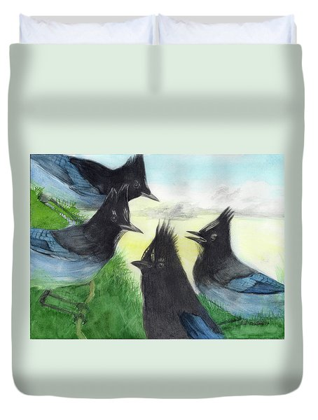 Dawn Chorus Duvet Cover