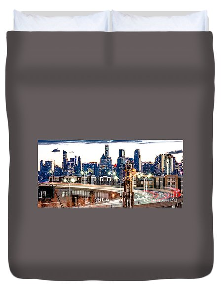 Dawn Commute Duvet Cover
