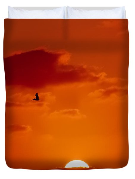 Dawn Flight Duvet Cover by DigiArt Diaries by Vicky B Fuller