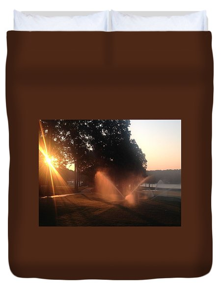 Dawn Golf Course Duvet Cover