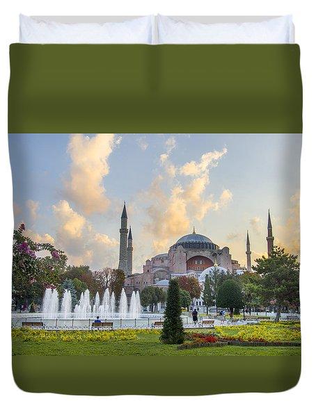 Dawn Hagia Sophia Istanbul Duvet Cover