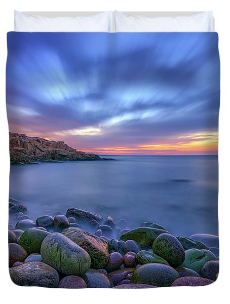 Dawn In Monument Cove Duvet Cover by Rick Berk