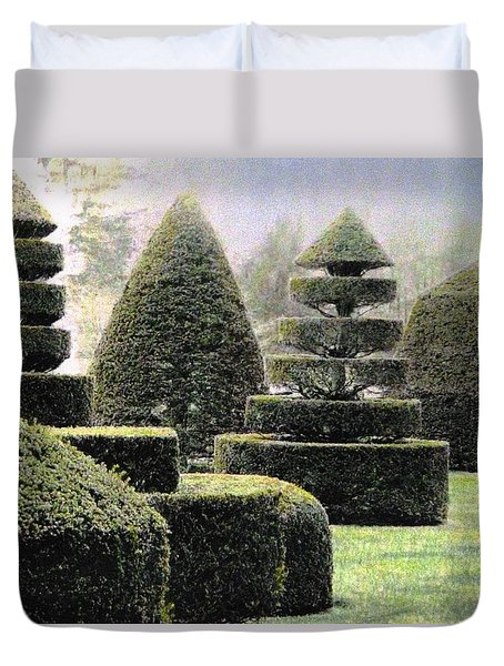 Dawn In A Topiary Garden   Duvet Cover by Angela Davies