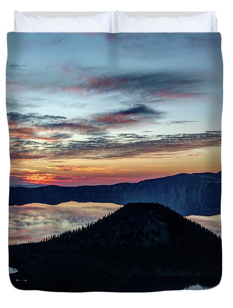 Dawn Inside The Crater Duvet Cover
