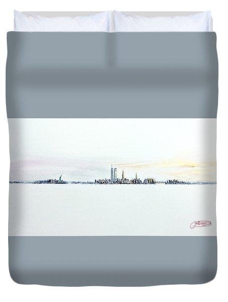Dawn New York City Duvet Cover