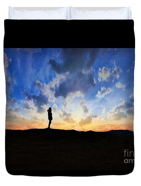 Dawn Of A New Day Sunrise 140a Duvet Cover by Ricardos Creations