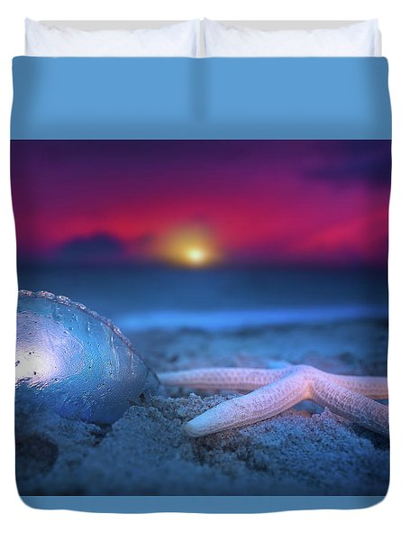 Duvet Cover featuring the photograph Dawn Of The Warriors by Mark Andrew Thomas
