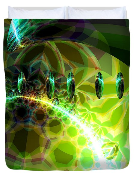 Duvet Cover featuring the digital art Dawn Of Time  by Diane Clancy