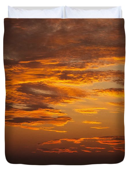 Dawn On Gaither Mountain At Ponca Wilderness Duvet Cover