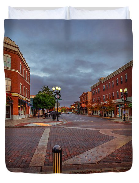 Dawn On Park Street Duvet Cover