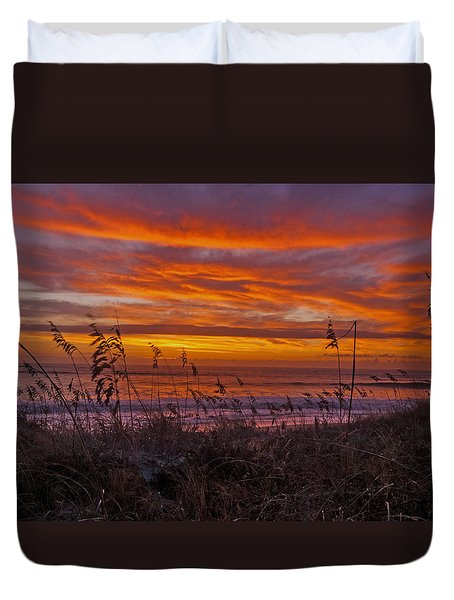 Dawn On The Dunes Duvet Cover