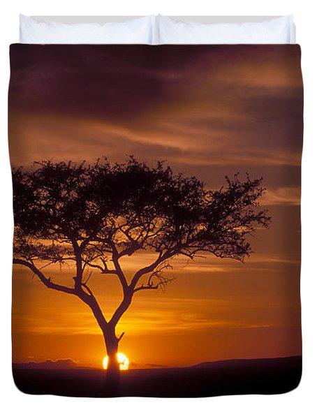 Dawn On The Masai Mara Duvet Cover