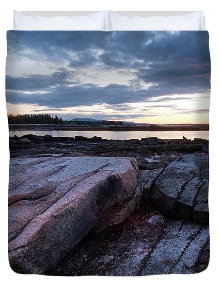 Dawn On The Shore In Southwest Harbor, Maine  #40140-40142 Duvet Cover