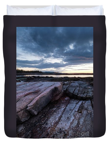 Dawn On The Shore In Southwest Harbor, Maine  #40140-40142 Duvet Cover