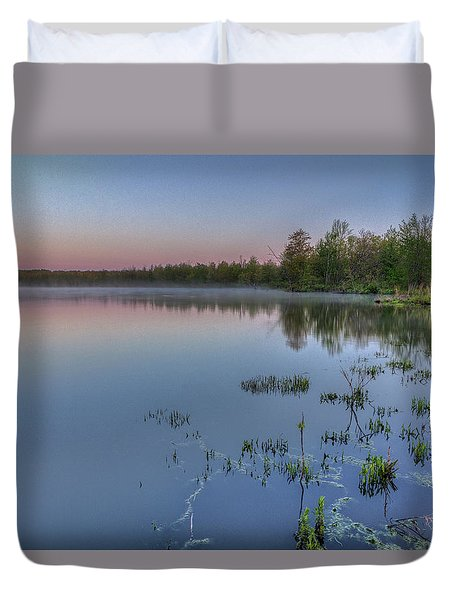 Dawn Over North Bay Duvet Cover