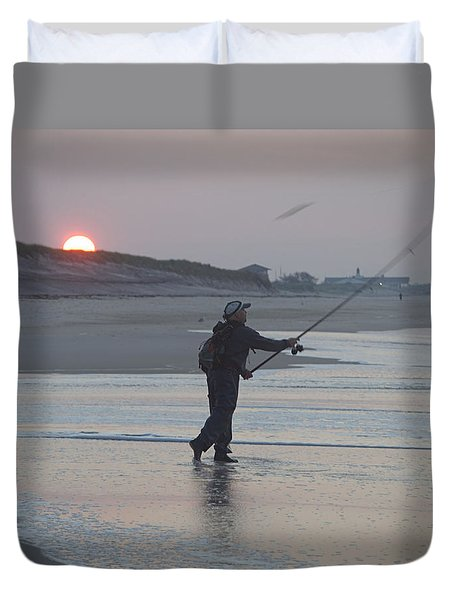 Duvet Cover featuring the photograph Dawn Patrol by Newwwman