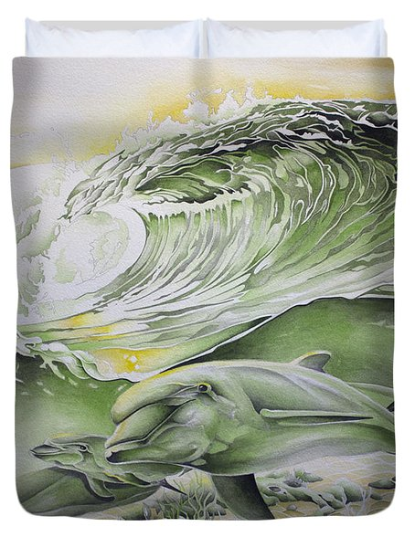 Dawn Patrol Duvet Cover