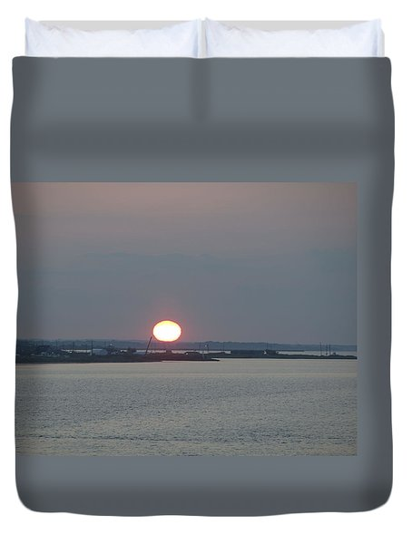 Duvet Cover featuring the photograph Dawn by  Newwwman