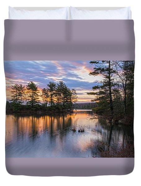 Dawn Serenity At Lake Tiorati Duvet Cover