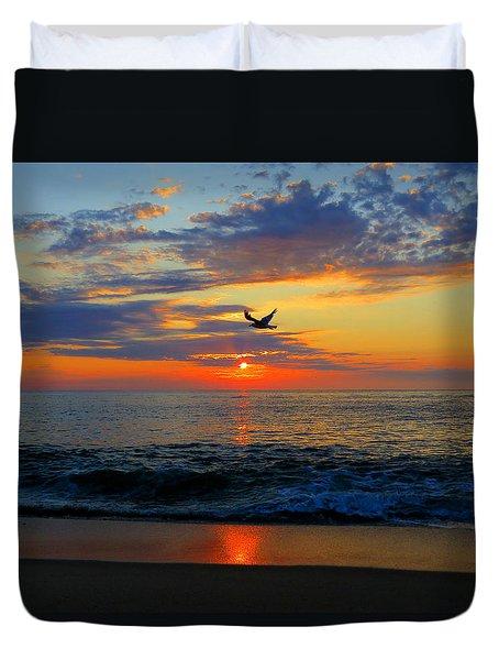 Dawning Flight Duvet Cover by Dianne Cowen