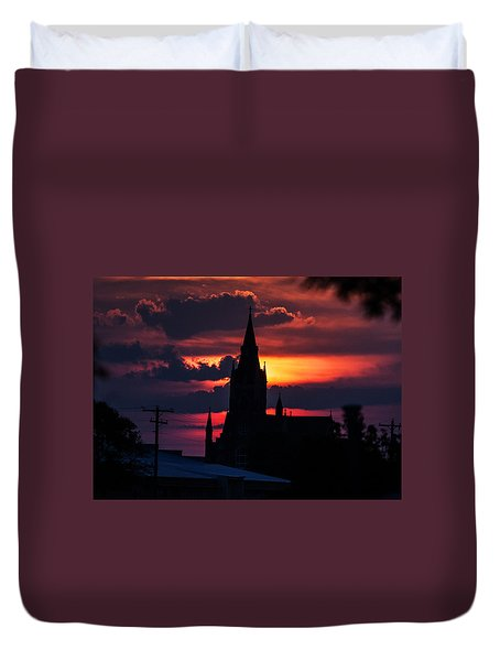Duvet Cover featuring the photograph Dawning Faith by Shirley Heier
