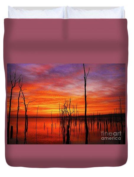 Dawns Approach Duvet Cover