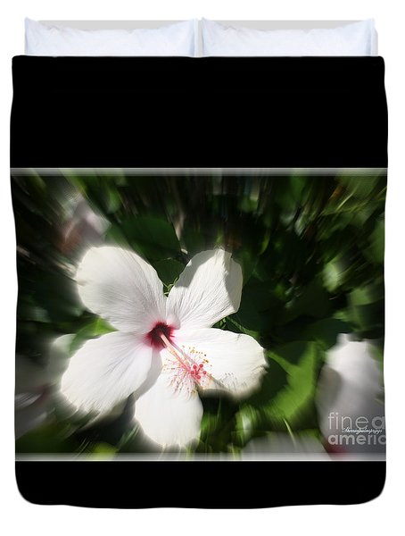 Duvet Cover featuring the photograph Dawns Flower Of The Morning by Sherri  Of Palm Springs