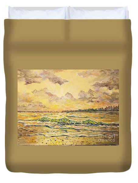 Dawns View Of Siesta Key Duvet Cover
