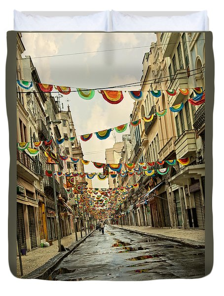 Duvet Cover featuring the photograph Day After by Kim Wilson