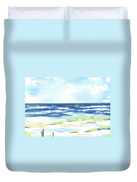 Day At The Beach Duvet Cover