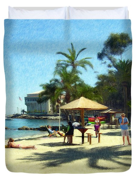 Day At The Beach Duvet Cover by Snake Jagger
