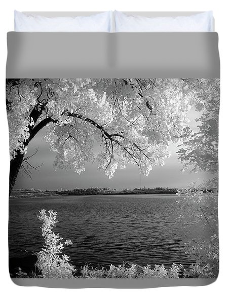 Day At The Lake Duvet Cover