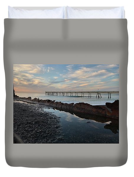 Day At The Pier Duvet Cover