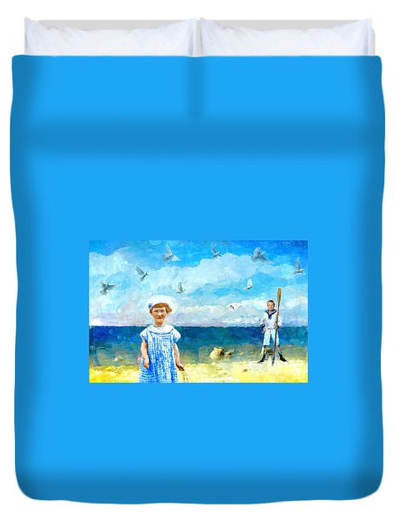 Day At The Shore Duvet Cover by Alexis Rotella