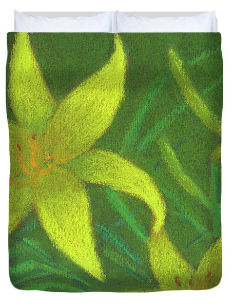 Day Lilies Duvet Cover